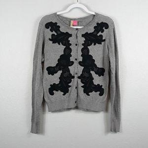 Charlotte Tarantola lace embroidered cardigan L